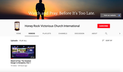 Watch & Pray You Tube channel, Apostle Jerry Upton, overseer of Honey Rock Victorious Church, Knoxville, Tennessee